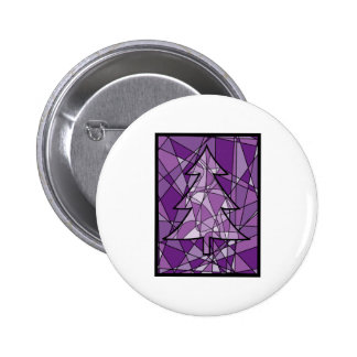 Stained Glass Christmas Tree Pins