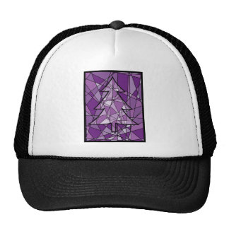 Stained Glass Christmas Tree Trucker Hat