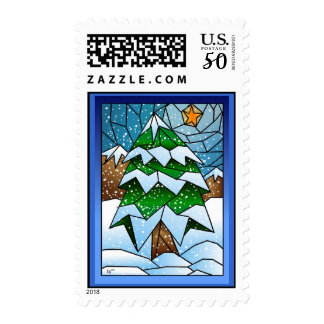 Stained Glass Christmas Tree Stamp