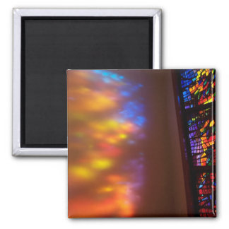 Stained Glass Church Cathedral Window Magnet Art