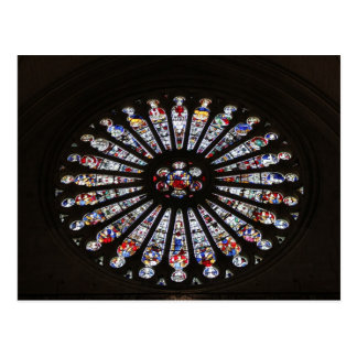 Stained-Glass Church Rose Window Postcard