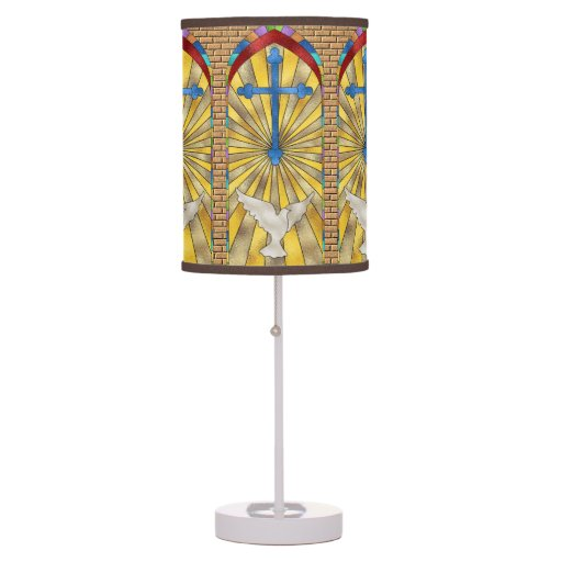 stained glass church windows table lamp zazzle. Black Bedroom Furniture Sets. Home Design Ideas