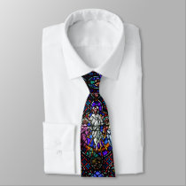 Stained Glass Church Windows Tie