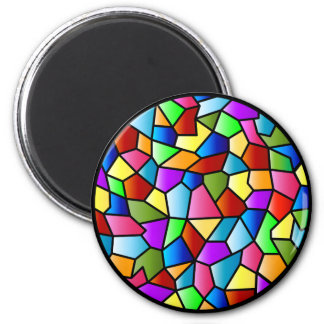 Stained Glass Circle Magnet