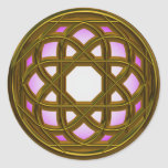 Stained Glass Classic Round Sticker