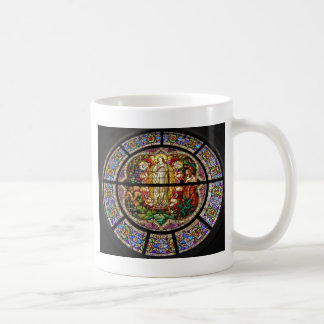 stained-glass classic white coffee mug