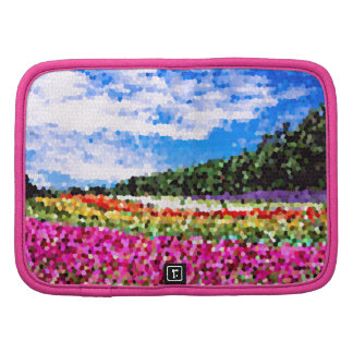 Stained Glass Colorful Flower Field Bluesky Mosaic Folio Planners