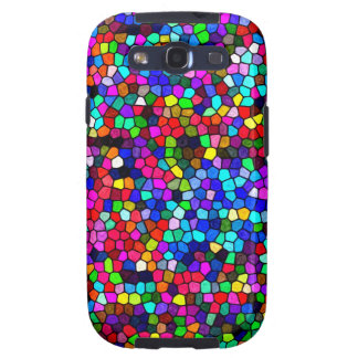 Stained Glass Colors Mosaic Samsung Galaxy S3 Cases