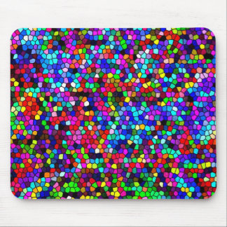 Stained Glass Colors Mosaic Mouse Pad