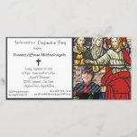 """Stained Glass Confirmation Party Invitation<br><div class=""""desc"""">Upload your own photo and personalize this stained glass religious invitation. Ideal for Baptism,  Communion or Confirmation. Plenty of customizable text to add your party or announcement information. If you have trouble customizing this item please contact us and we will be happy to assist you.</div>"""