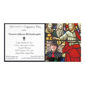 Stained Glass Confirmation Party Invitation