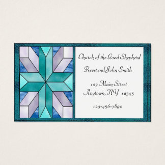 Stained Glass Cross Business Card