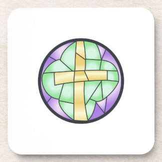 Stained Glass Cross Coaster