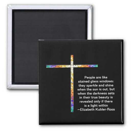 Stained Glass Cross - magnet