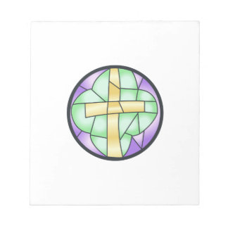Stained Glass Cross Notepad