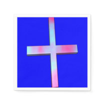 Stained Glass Cross Paper Napkin