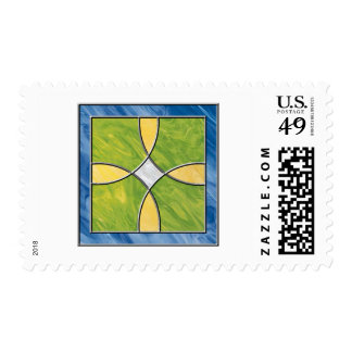 Stained Glass Cross Postage