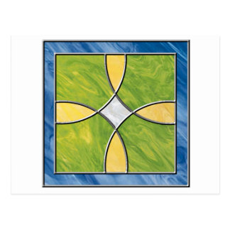 Stained Glass Cross Post Cards