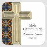 Stained Glass cross Sticker