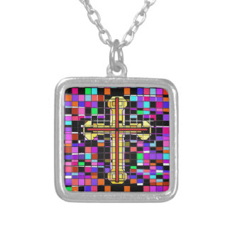 Stained Glass Crucifix. Pendants