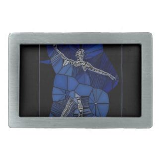 Stained Glass Dancer Belt Buckle