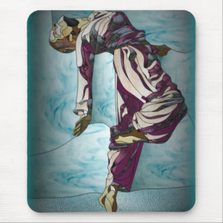 Stained Glass Dancer Mouse Pads