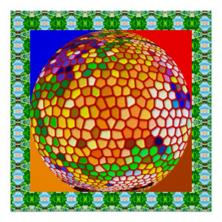 Stained Glass Decorations Poster