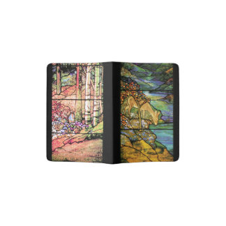 Stained Glass Deer Psalm 42 Stream Passport Holder