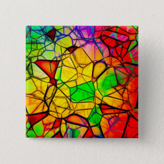 Stained Glass Design 2 Inch Square Button