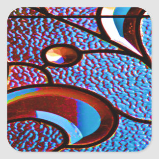Stained Glass Design Abstract Customize Square Sticker