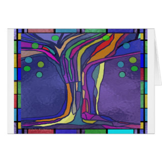 Stained Glass Design card