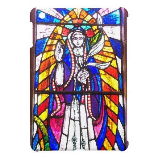 Stained Glass Design with Religious Figure. Case For The iPad Mini