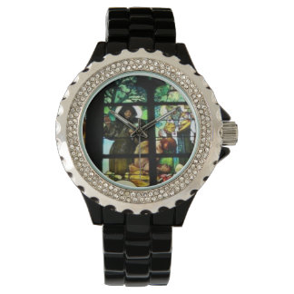 STAINED GLASS DESIGN WRIST WATCH
