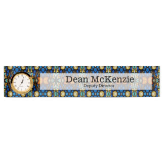 Stained glass desk name plate