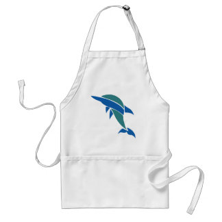 Stained Glass Dolphin Adult Apron
