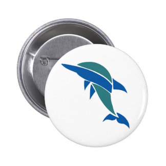 Stained Glass Dolphin Button