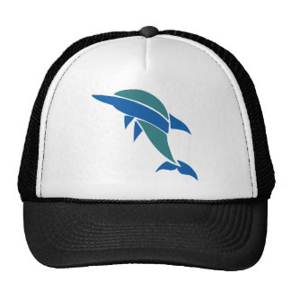 Stained Glass Dolphin Trucker Hat