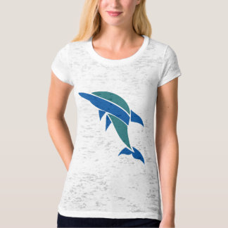 Stained Glass Dolphin T Shirt