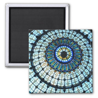 Stained glass dome 2 inch square magnet