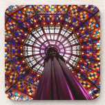 Stained Glass Dome Beverage Coaster
