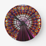 Stained Glass Dome Round Wallclocks