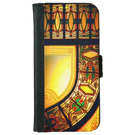 Stained glass door iPhone 6/6s wallet case