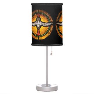 Stained glass dove desk lamp