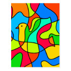Stained Glass Dove of Peace Postcard