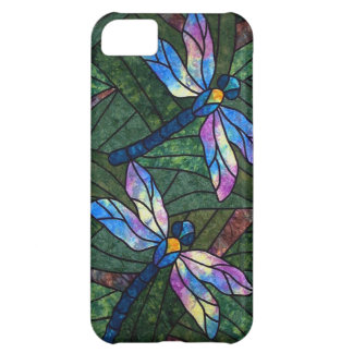 Stained Glass Dragonflies Case For iPhone 5C