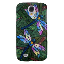 Stained Glass Dragonflies Galaxy S4 Case