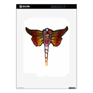 Stained Glass Dragonfly Decal For iPad 2