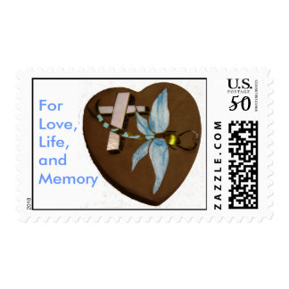 Stained Glass Dragonfly, For Love,Life, and Memory Postage