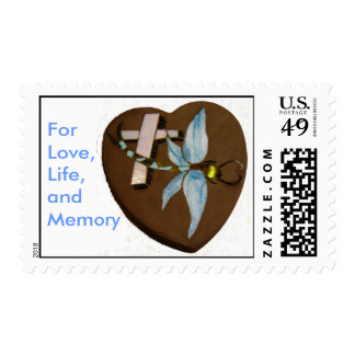 Stained Glass Dragonfly, For Love,Life, and Memory Postage Stamp