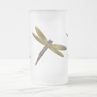 Stained Glass Dragonfly Frosted Mug
